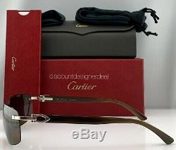 Cartier Lunettes De Soleil Brown Frameless Corne De Buffle Brown Polarized Ct0046s 002