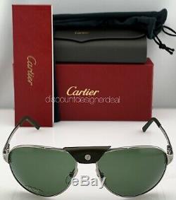 Cartier Santos Aviator T8200874 Vert Foncé Vert Ruthenium Polarisants