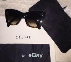 Celine Femmes CL 41098fs Lunettes De Soleil 50 MM Bleu / Tortoise / Havana