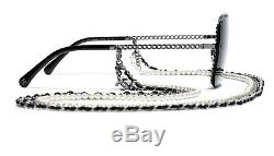 Chanel 4244 Place Dark Silver / Gris Lens Avec Chaîne Pearl Lunettes De Soleil% 100auth