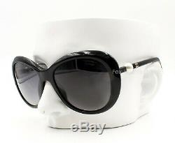 Chanel 5302h 501 / S8 Lunettes De Soleil Poli Noir Avec Perle Temples Polarisants