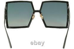 Christian Dior 30montaigne 807/1i Lunettes De Soleil Femme Noir/gris Lens Square 58mm