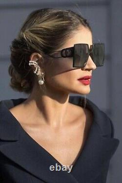 Christian Dior 30montaigne 807/1l Lunettes De Soleil Femme Black Grey Lens Oversize New
