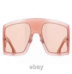 Christian Dior Diorsolight Solight 1 Fwm/ho Nude Lunettes De Soleil Femmes Marron Rose XL