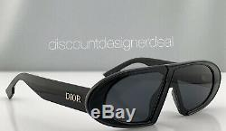 Christian Dior Lunettes De Soleil Oblique 8072k Cadre Noir Verres Gris Marque Nouveaux