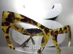 Classic Vintage Retro Cat Eye Style Verres Transparents Eye Lunettes Demi Découpe Cadre