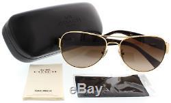 Coach Lunettes De Soleil Hc7059 L138 923813 Gold / Dark Tortoise 58mm