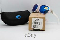 Costa Del Mar Gannet Sunglasses Matte Seashell / Bleu Miroité 580p Femmes