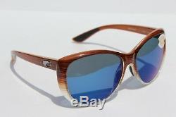 Costa Del Mar Lunettes De Soleil Polarisées La Mar 580p Womens Wood Fade / Blue Mirror Nouveau