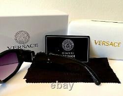 Dernières Lunettes De Soleil Versace Medusa Biggie Ve4361 Noir Gris 53mm Lens Unisexe