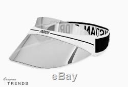 Dior Club 1 Visor Black With White Silver Mirror Lens Lunettes De Soleil% 100 Authentic