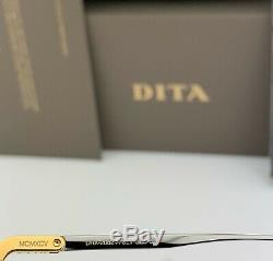 Dita Décennie Deux Lunettes De Soleil Aviator Drx-2082 Argent 18k Or Gris Dégradé 62mm