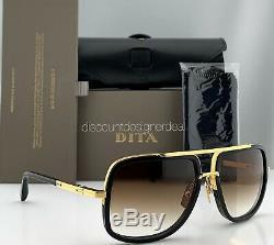 Dita Mach One Square Lunettes De Soleil Noir Or 18k Brown Gradient Drx-2030b-59