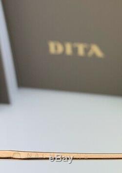 Dita Nacht Lunettes De Soleil Rondes One Dts108-56-01 Noir Or Gris Flash 56mm Grande