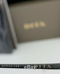 Dita Nacht One Lunettes De Soleil Rondes Dts108-56-02 Fer Noir Gris Objectif 56mm Grand