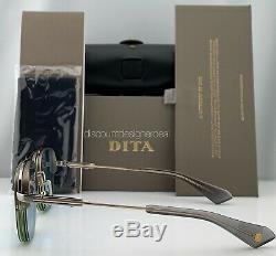 Dita Rikton Type 402 Lunettes De Soleil Dts117-02 Pale Blue Gold Chromatique Objectif
