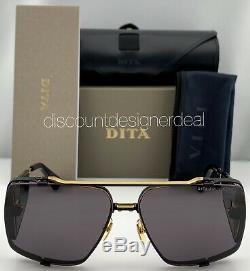 Dita Souliner Deux Lunettes De Soleil D'or Gris Lens Noir Jaune Dts136-64-03 Nouveau Modèle