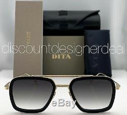 Dita Vol 006 Lunettes De Soleil D'or Noir Cadre Gris Dégradé Objectif 7806-b-blk-gld-52