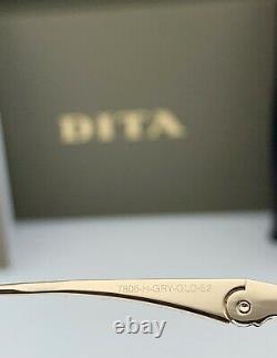 Dita Vol 006 Lunettes Gris Gris Gradient Gold Frame Lentille 7806-h-gry-gld-52