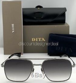 Dita Vol Sept Lunettes De Soleil Cadre Gris Argenté Dégradé Objectif Dts111-57-01 57mm