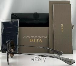 Dita Vol Sept Lunettes De Soleil Fer Noir Brun Lens Dts111-57-03 Nouveau