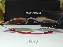 Dolce & Gabbana Dg2172 - Lunettes De Soleil À Lentille Rouge Chatoyante Or Rose / Cadre Rouge
