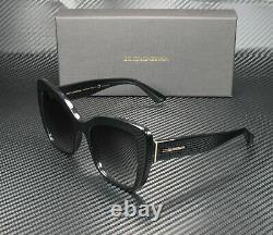 Dolce & Gabbana Dg4348 501 8g Black Grey Gradient 54 MM Lunettes De Soleil Femme