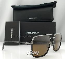 Dolce & Gabbana Dg 2193j Royal Lunettes De Soleil 04/73 La Havane Ruthenium / Brown 59mm