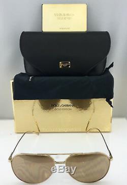 Dolce & Gabbana Gold Edition Aviator Dg2166 K02 / F9 Or 18 Carats En Or Rose