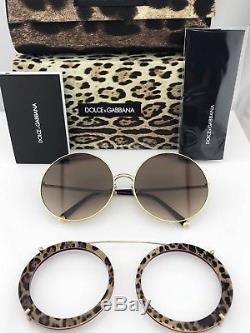 Dolce & Gabbana Lunettes De Soleil À Monture Ronde Dg2198 Avec Clip 1318/13