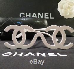 Échantillon De Lunettes De Soleil Vintage, Piste Vintage, Blanc, Très Rare, Auth Chanel, Collectionneurs 1994