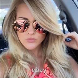 Femmes Ray Ban Aviator Pilot Lunettes De Soleil Pink Unisex Mirrored USA