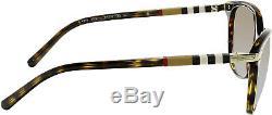 Gradient Be4216-300213-57 Brown Ovale Lunettes De Soleil Burberry