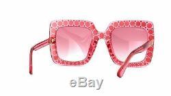Gucci Femmes Ladys Gg0148s 003 Lunettes De Soleil Gradient Cristal Rose 53mm