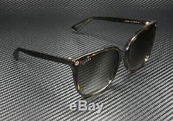 Gucci Gg0022s 003 Havana Cat Eye Brown 57 MM Lunettes De Soleil Femme