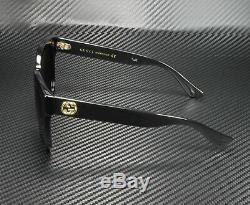 Gucci Gg0034s 001 Rectangulaire Carré Noir Gris 54 MM Lunettes De Soleil Femme