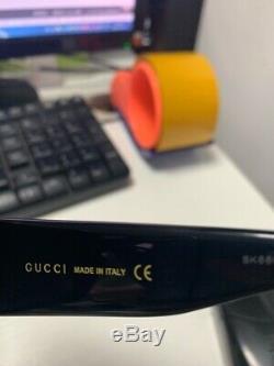 Gucci Gg0053s 001 54mm Oversize Carré Noir Femme Lunettes De Soleil Nouveau Authentic