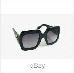 Gucci Gg0053s 001 54mm Oversize Carré Noir Lunettes De Soleil Femme