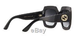 Gucci Gg0053s 001 54mm Oversize Square Black Femmes Lunettes De Soleil