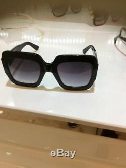 Gucci Gg0053s 001 54mm Oversize Square Femmes Lunettes De Soleil Noir 100% Uv