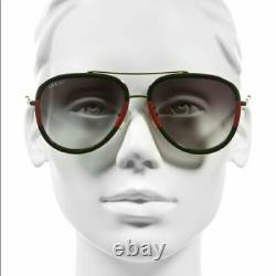 Gucci Gg0062s 003 Aviateur Vert Or 57 MM Lunettes De Soleil Femme / Homme