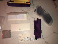 Gucci Gg0083s 008 Lunettes De Soleil Oversize Carrées, Femmes Noires, 54 Mm, Neuves