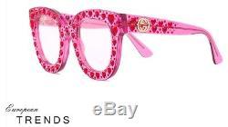 Gucci Gg0116 / S Swarovski Crystal Avec Lunettes De Soleil En Acétate Rose Rose Authentic