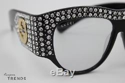 Gucci Gg0144 / S Lunettes De Soleil Avec Monture Légère En Strass% 100 Authentic