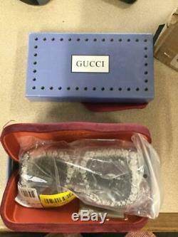 Gucci Gg0148s Noir / Gris Ombré (001 A) Lunettes De Soleil