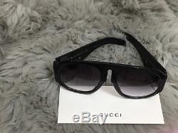 Gucci Gg0152s Black Acetate Frame Lunettes De Soleil Pour Femmes 100% Authentique