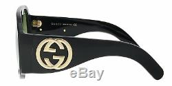Gucci Gg0152s Black Acetate Frame Lunettes De Soleil Pour Femmes, 100% Authentique