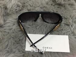 Gucci Gg0152s Black Lunettes De Soleil Pour Femmes À Monture En Acétate 100%