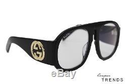 Gucci Gg0152s Noir Acétate Cadre Lunettes De Soleil Femmes% 100 Auth Livraison Gratuite