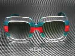 Gucci Gg0178s 001 Rectangulaire Carré Multicolor Vert 54 MM Lunettes De Soleil Femme